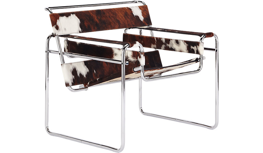 Wassily Chair Tricolor Cowhide Marcel Breuer KNOLL Design Within Reach ...