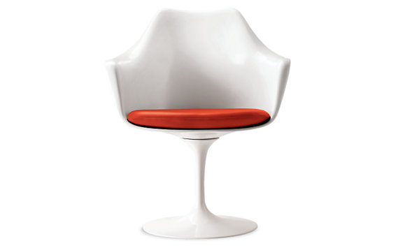 Saarinen Tulip™ Armchair with Vinyl or Leather Seat