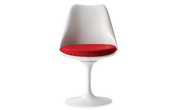 Saarinen Tulip Armless Chair with Vinyl Seat