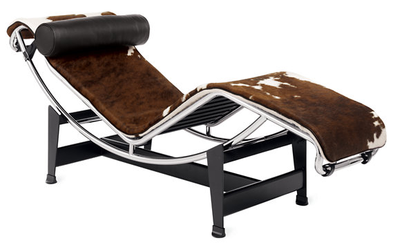 Lc4 chaise lounge cowhide design within reach for B306 chaise longue