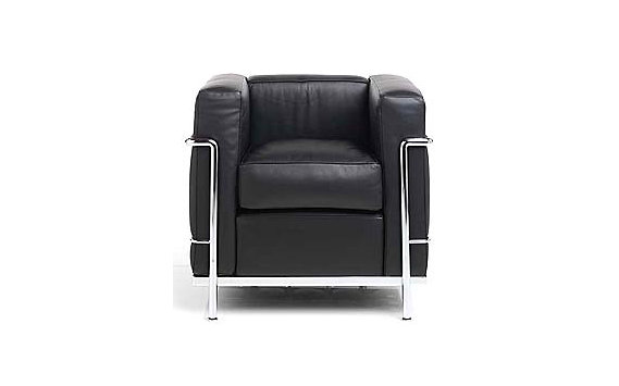 LC2 Petit Modele Armchair – Chrome Frame/Blk Leather