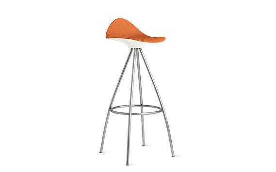 Onda Barstool with Stainless Frame